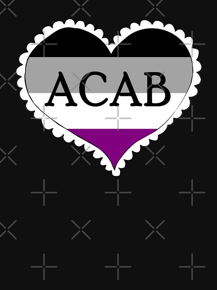 acab asexual flag heart by craftordiy