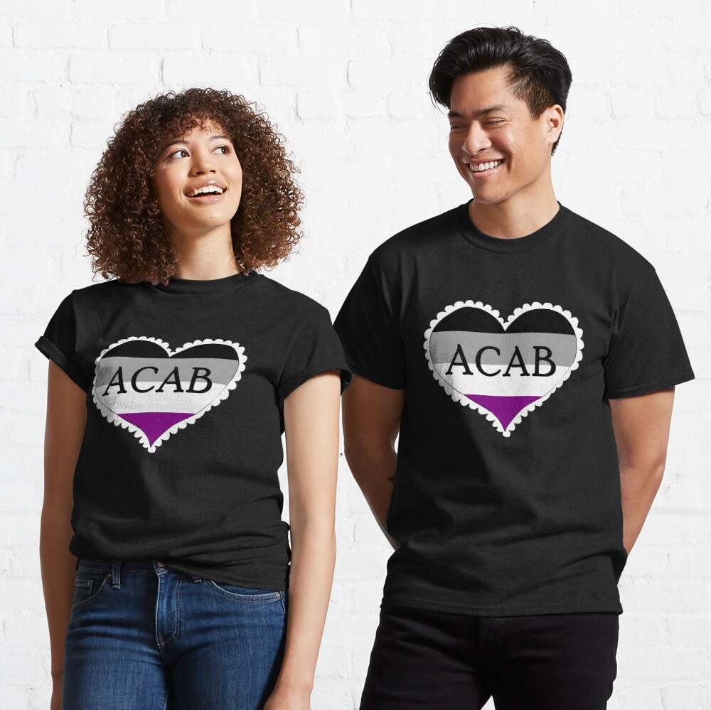 acab asexual flag heart Classic T-Shirt