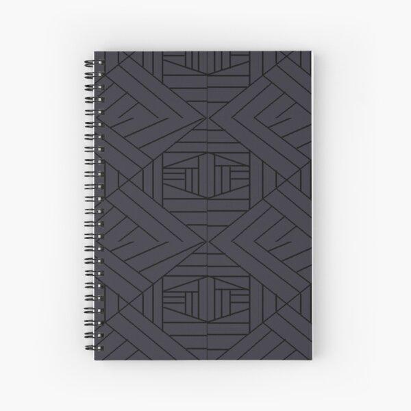 dk graygeometrical pattern Spiral Notebook