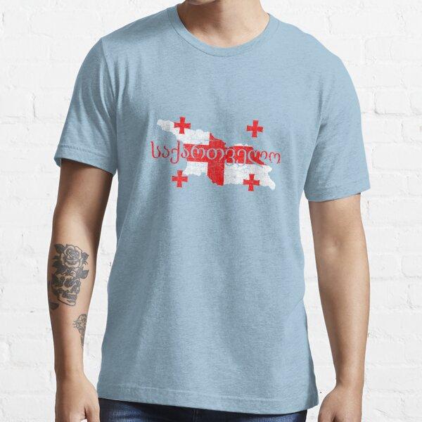 Drapeau et forme de carte de Géorgie T-shirt essentiel