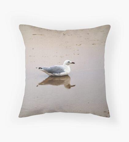 Bird in Reflection Throw Pillow