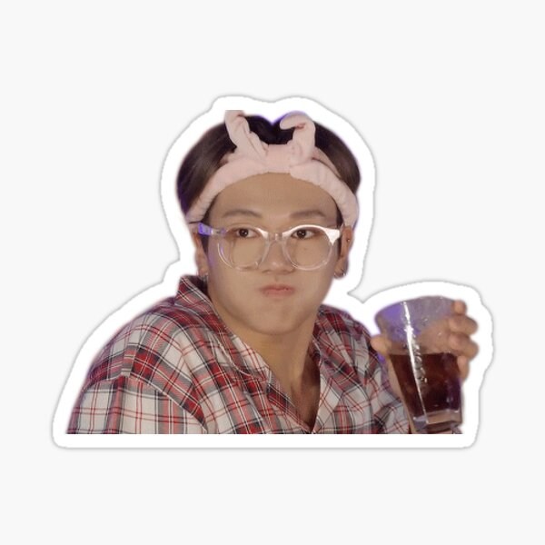 Wooyoung Sipping The Tea Sticker
