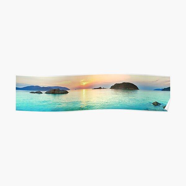 POSTER SUNSHINE NORTH AVENUE BEACH CHICAGO GIRL SUN TRAVEL VINTAGE REPRO FREE SH