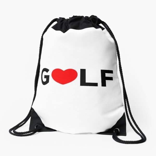 GOLF HEART | GOLFER Drawstring Bag