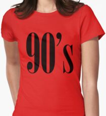 90s Womens Fitted T-Shirt