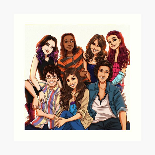 Victorious Cast Art Print