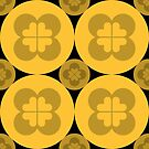 Geometric Pattern: Flower Circle: Yellow Dark by * Red Wolf