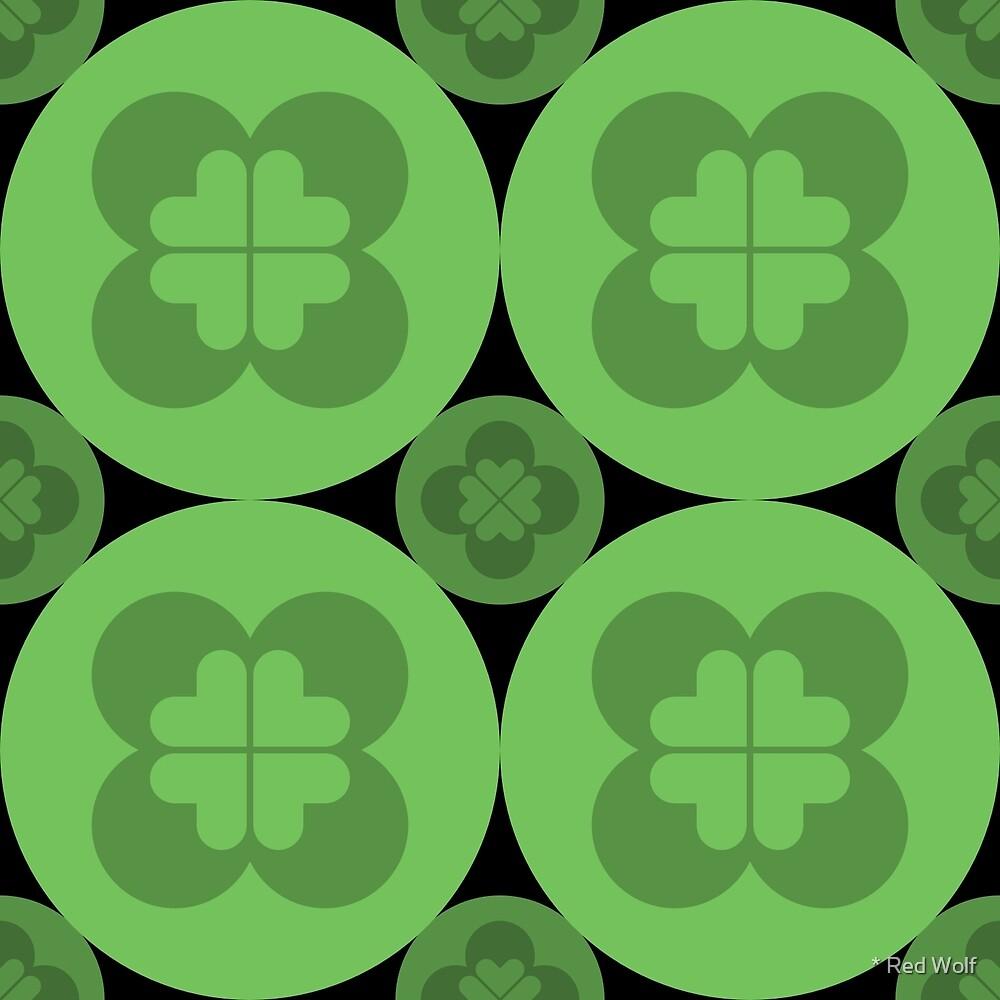 Geometric Pattern: Flower Circle: Green Dark by * Red Wolf