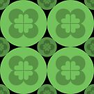 Geometric Pattern: Flower Circle: Green Dark by * Red Wolf