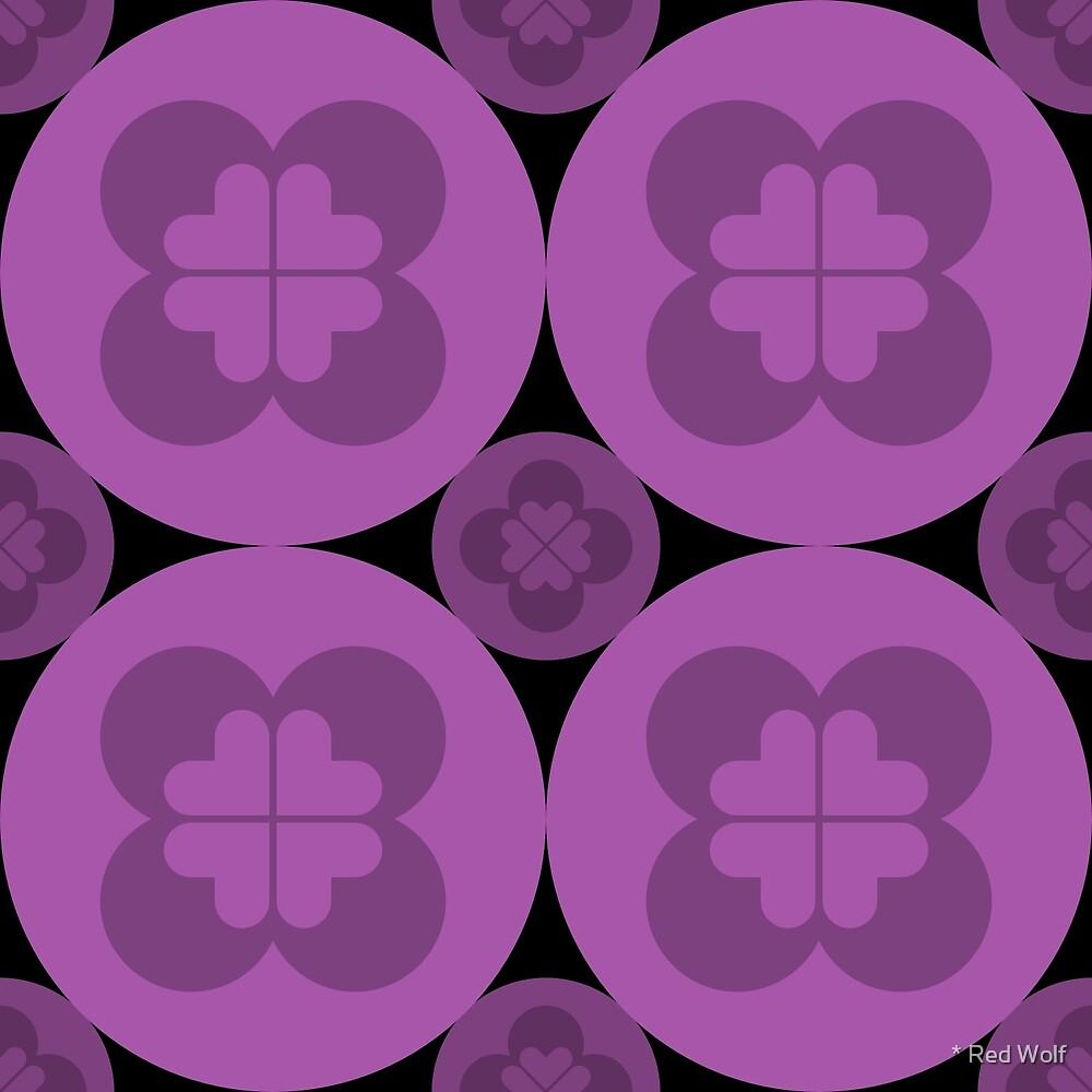 Geometric Pattern: Flower Circle: Purple Dark by * Red Wolf