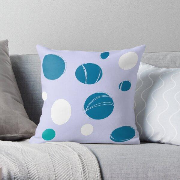 Cyber dots Throw Pillow