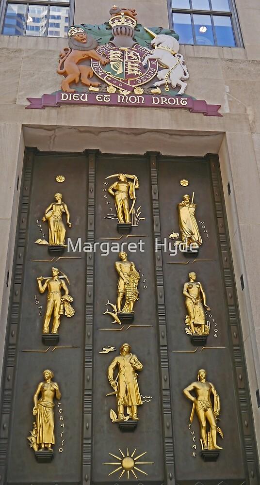 Door with the golden figures, New York by Margaret  Hyde