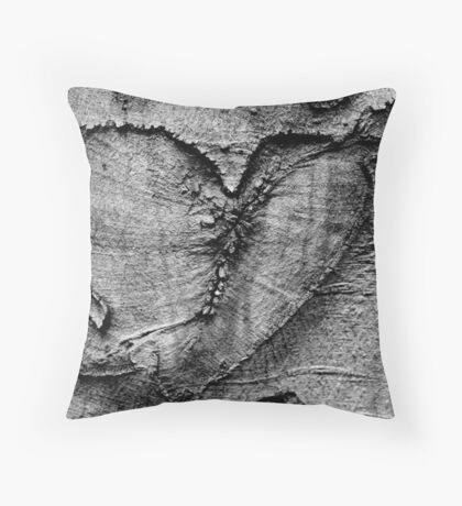 Carved Heart Throw Pillow