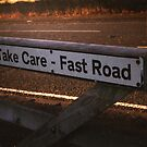 Take Care, Fast Road (colour) by Mandy Kerr