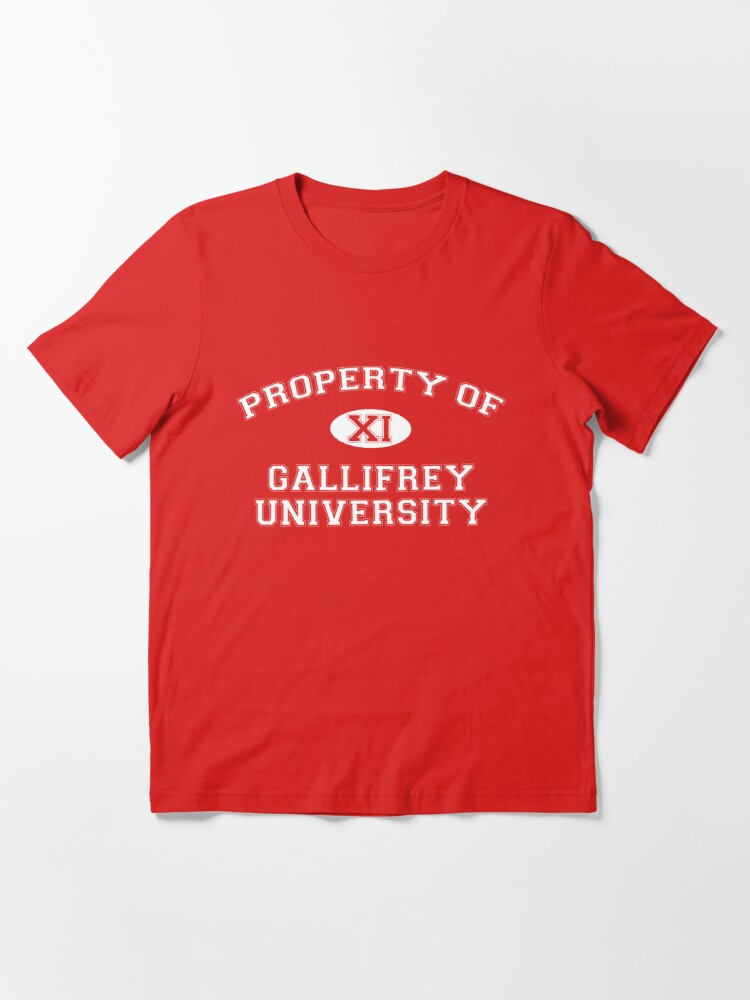 Alternate view of Property of Gallifrey University - 11th Doctor Essential T-Shirt