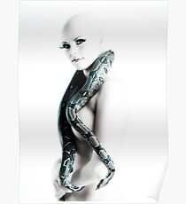 Nude girl with snake Poster
