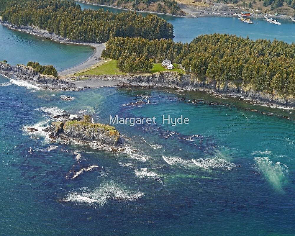 Aerial of Seaplane Jetties, Kodiak, Alaska  by Margaret  Hyde