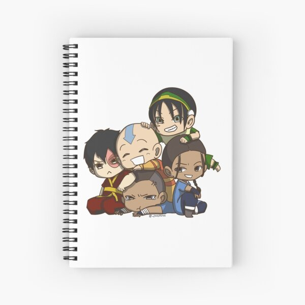 Avatar the Last Airbender Chibi Gaang Sticker Spiral Notebook