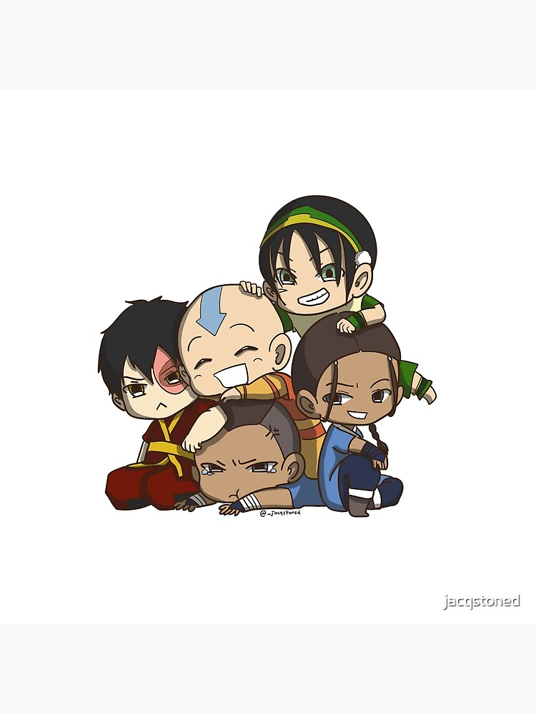 Avatar the Last Airbender Chibi Gaang Sticker by jacqstoned