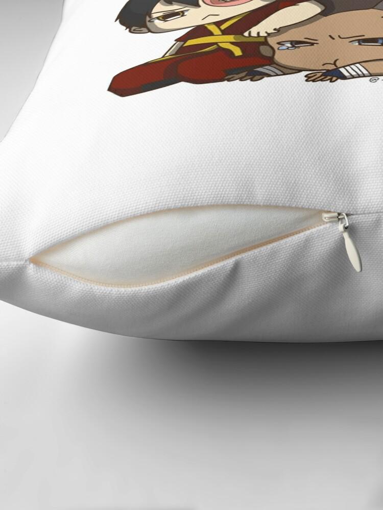 Alternate view of Avatar the Last Airbender Chibi Gaang Sticker Floor Pillow