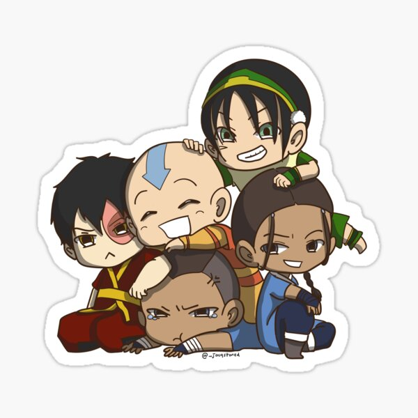 Avatar the Last Airbender Chibi Gaang Sticker Sticker