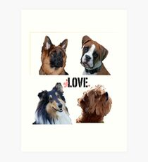 LOVE dogs Art Print