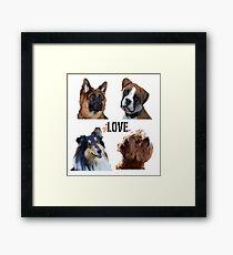 LOVE dogs Framed Print