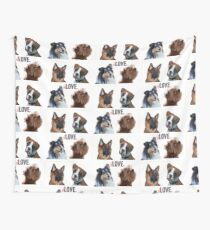 LOVE dogs Wall Tapestry