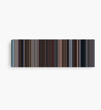 Moviebarcode: Eternal Sunshine of the Spotless Mind (2004) [Simplified Colors] Canvas Print