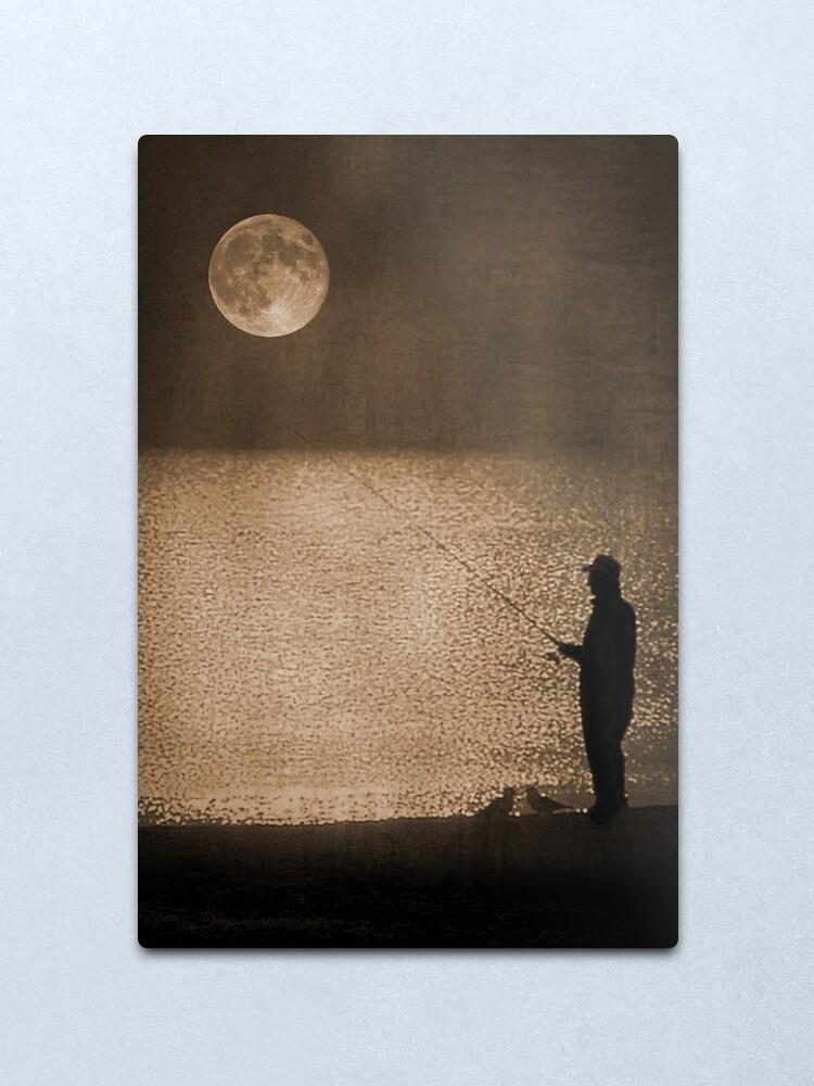Alternate view of The Fisherman Metal Print