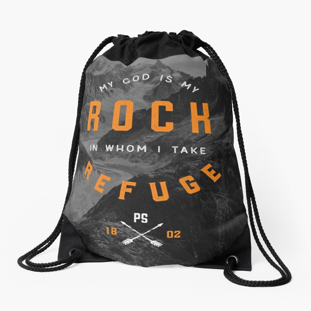 PSALM 18:2 Drawstring Bag