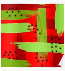 Abstract fruit Poster