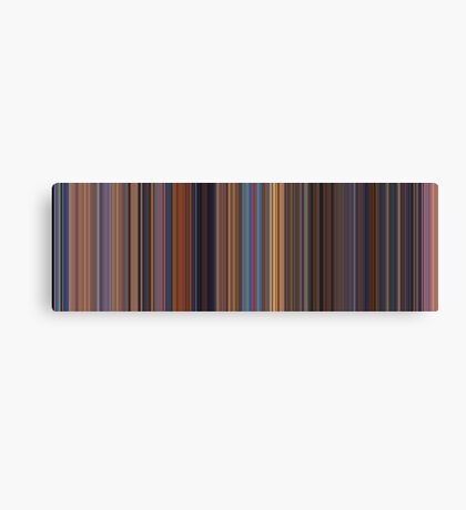 Moviebarcode: Toy Story 2 (1999) [Simplified Colors] Canvas Print
