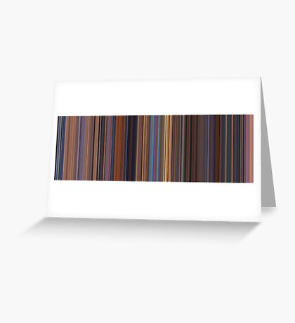 Moviebarcode: Toy Story 2 (1999) [Simplified Colors] Greeting Card