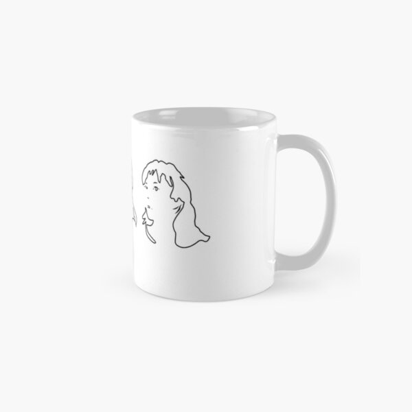 Triptych 3 faces outline (classic mug)  Classic Mug