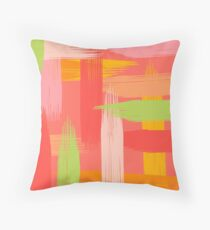 Abstract Grapefruit Throw Pillow