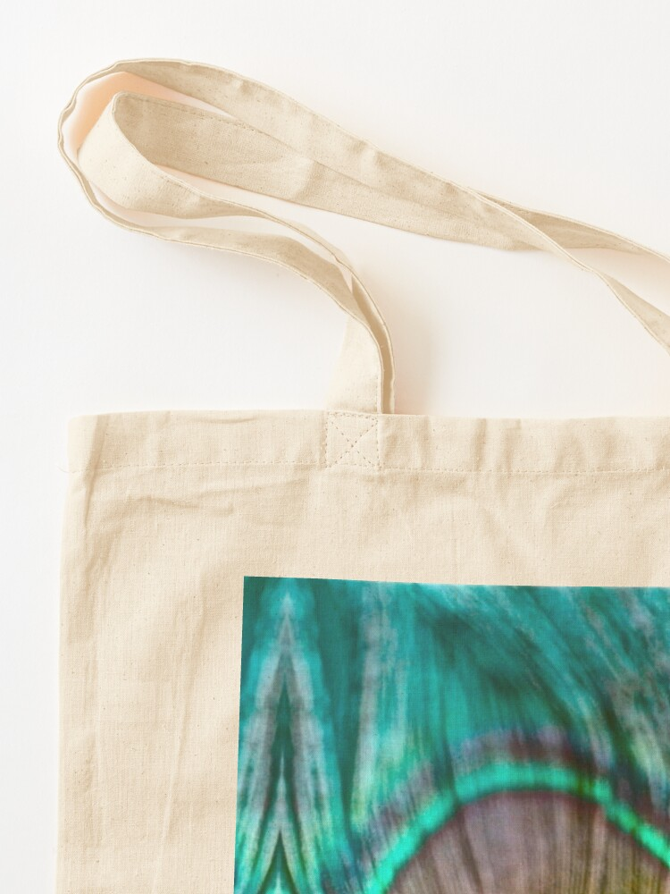 Alternate view of Peacock Feather Tote Bag