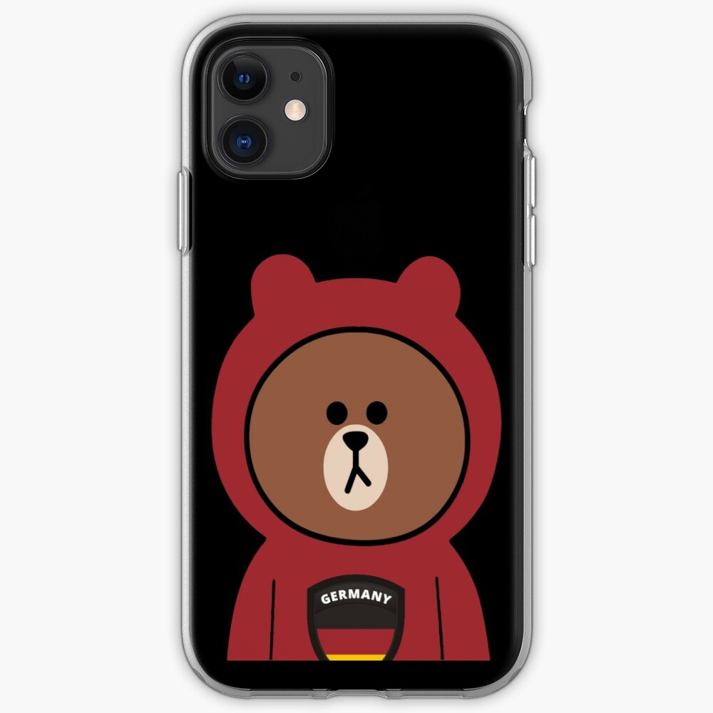 Brown bear cony bunny rabbit I love Germany iPhone Case & Cover