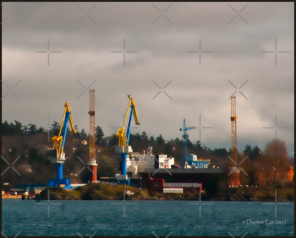 Esquimalt Royal Navy Dockyard by Daphne Eze
