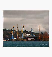 Esquimalt Royal Navy Dockyard Photographic Print