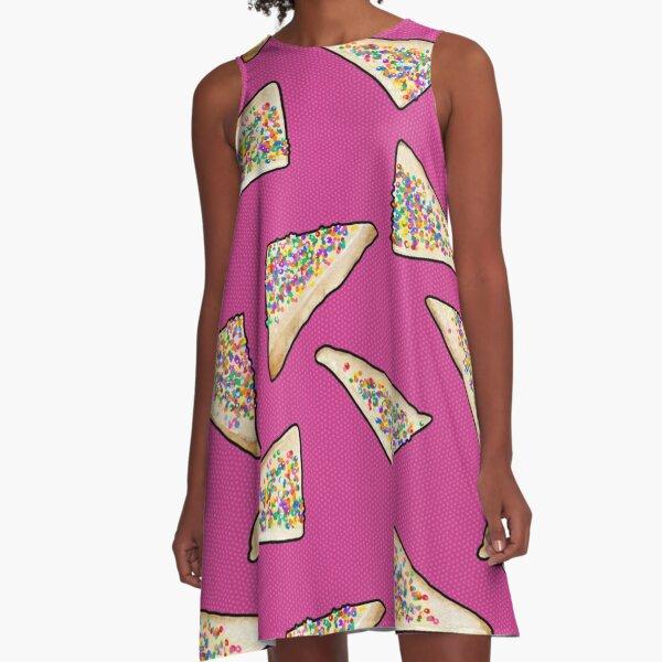 Fairy Bread in Pink, Aussie 90s birthday party A-Line Dress