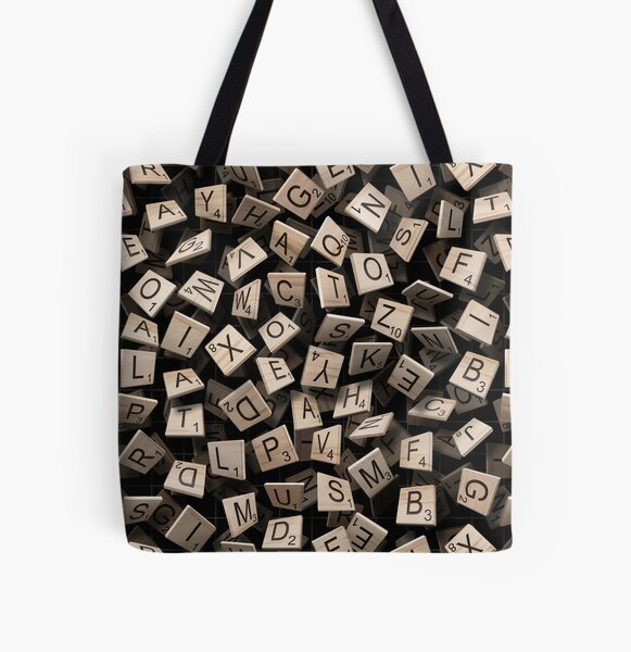 Scrabble Tile Madness All Over Print Tote Bag