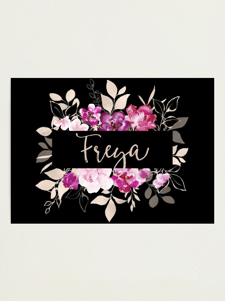 Alternate view of Pretty Ink Freya Photographic Print