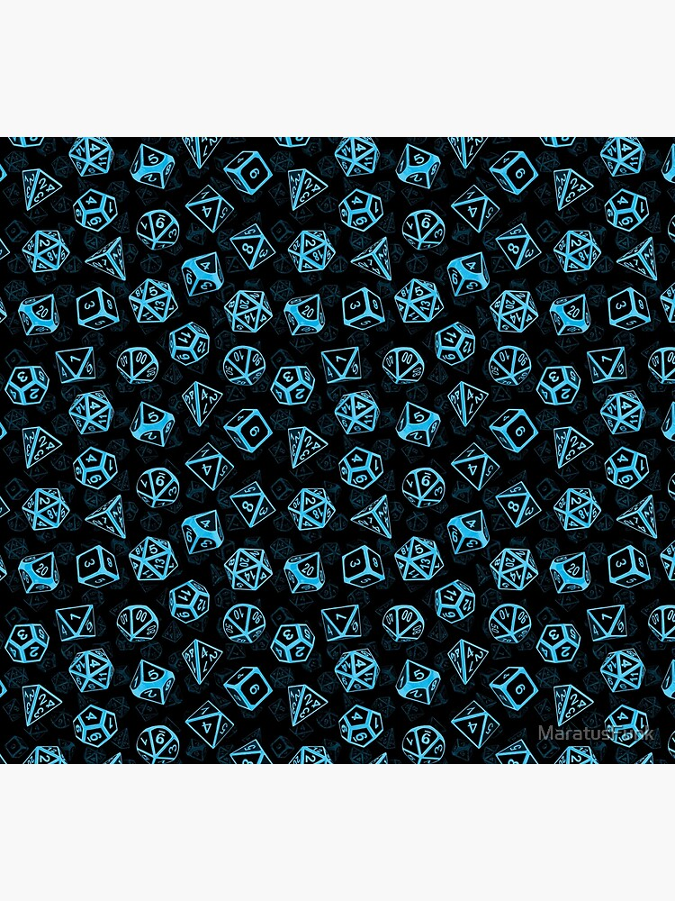 D20 Dice Set Pattern (Blue) by MaratusFunk