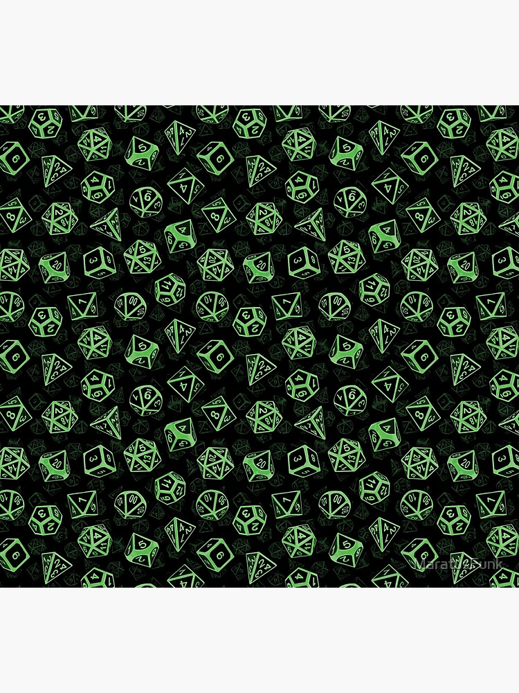 D20 Dice Set Pattern (Green) by MaratusFunk