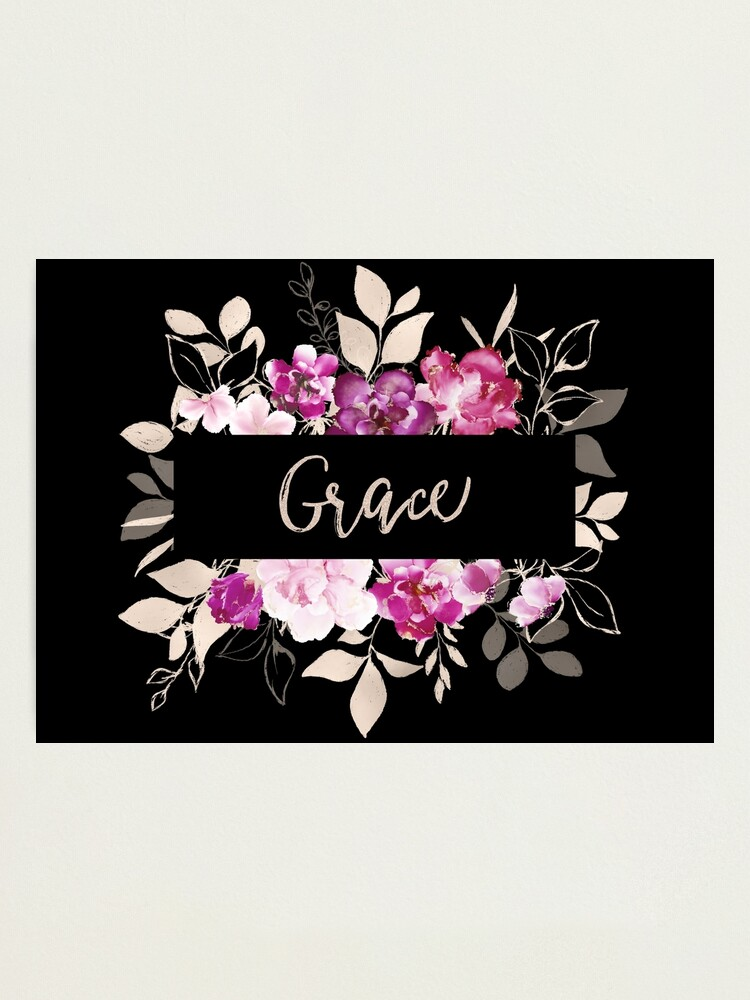 Alternate view of Pretty Ink Grace Photographic Print