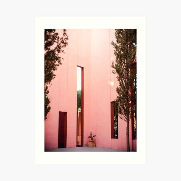 Pink walls | Muralla Roja fine art photography print | pastel colored photo art Art Print