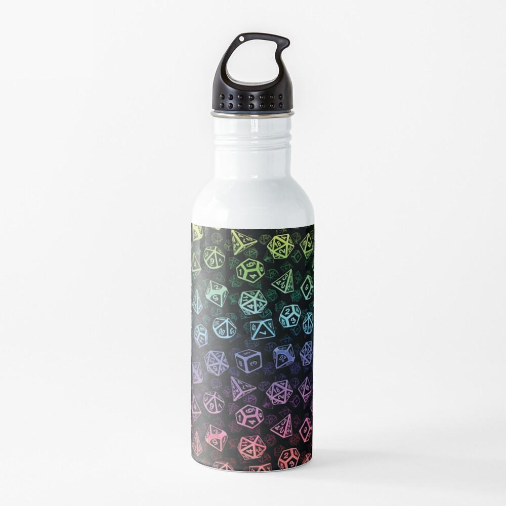 D20 Dice Set Pattern (Rainbow) Water Bottle