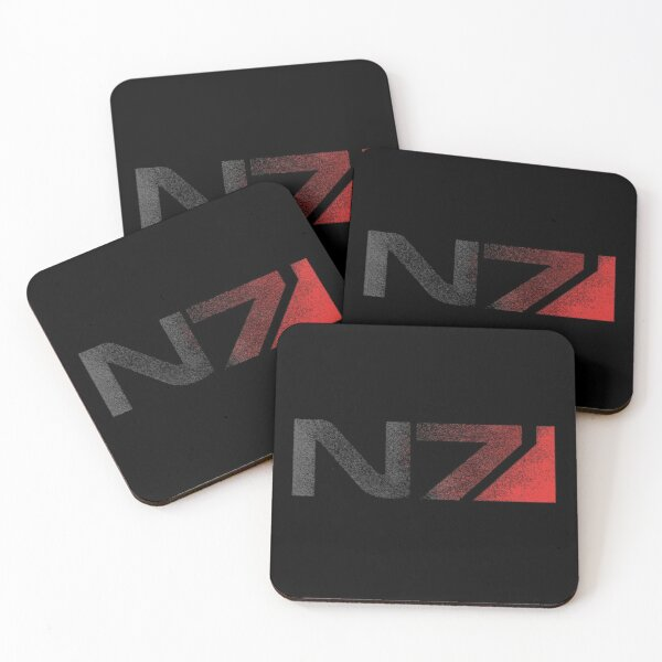 Mass Effect N7 Distressed Logo Coasters (Set of 4)