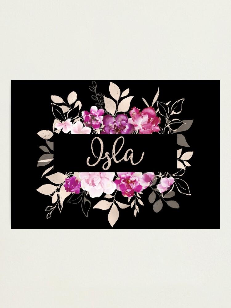 Alternate view of Pretty Ink Isla Photographic Print